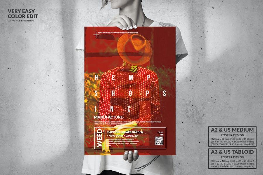 Hemp Shops inc - Big Poster Design