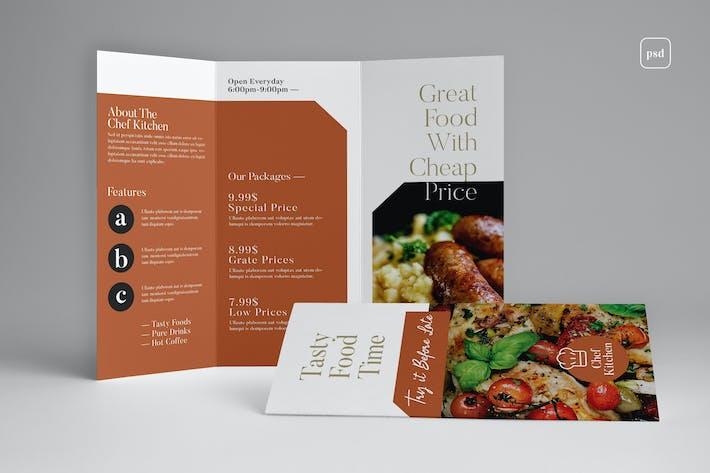 Cover Image For Restaurant Trifold Brochure