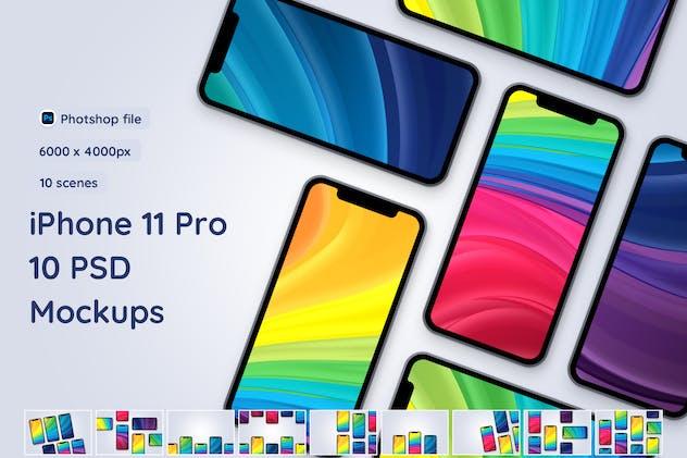 iPhone 11 Pro - 10 PSD Mockups