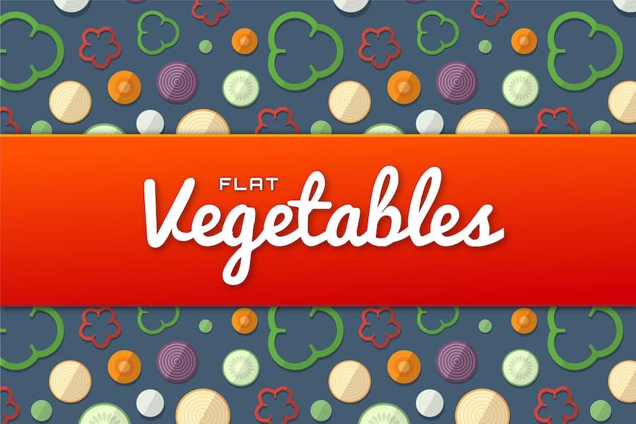 Flat Vegetables Set