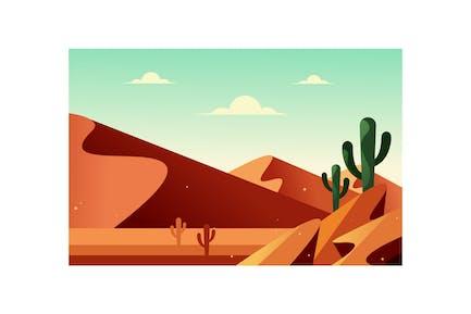 Landscape of the desert