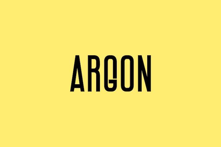 Thumbnail for ARGON - Unique Display / Headline Typeface