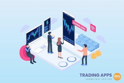 Trading Apps Concept Illustration
