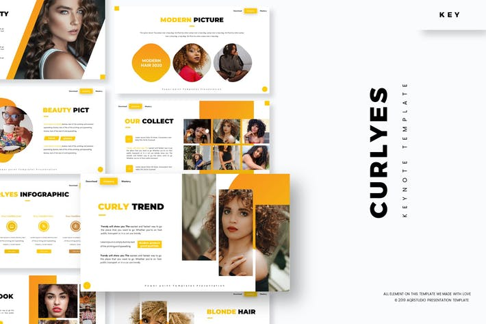 Curlyes - Keynote Template