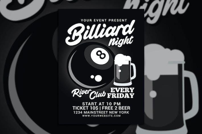 Thumbnail for Billiard Night Flyer