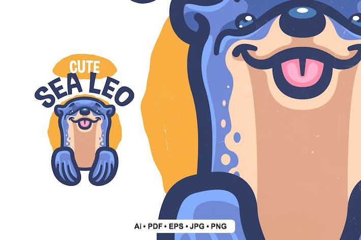 Thumbnail for Cute Seal Cartoon Logo Template
