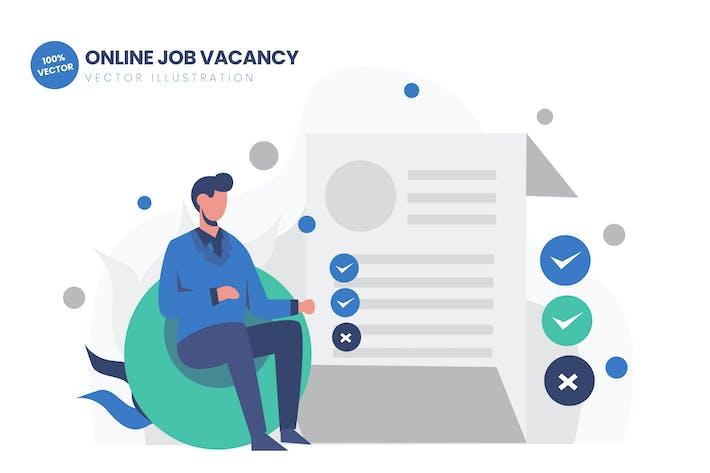 Thumbnail for Online Job Vacancy Flat Vector Illustration