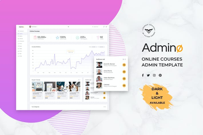 Thumbnail for Online Course Admin Dashboard UI Kit