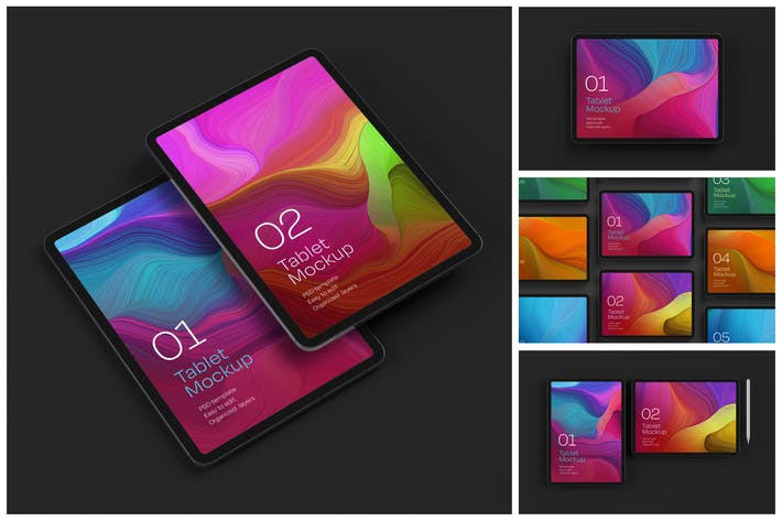 Thumbnail for iPad Pro Mockup Set | Tablet Screen