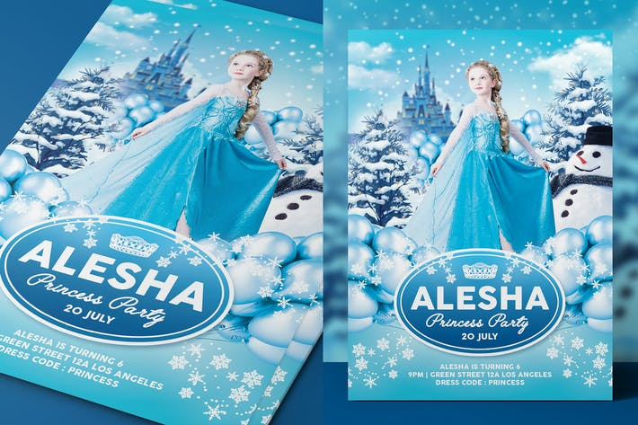 Thumbnail for Ледяная принцесса вечеринФлаер/Приглашение