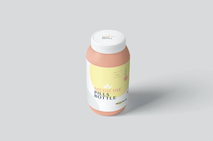 Thumbnail for Plastic Medicine Pills Bottle Mockups