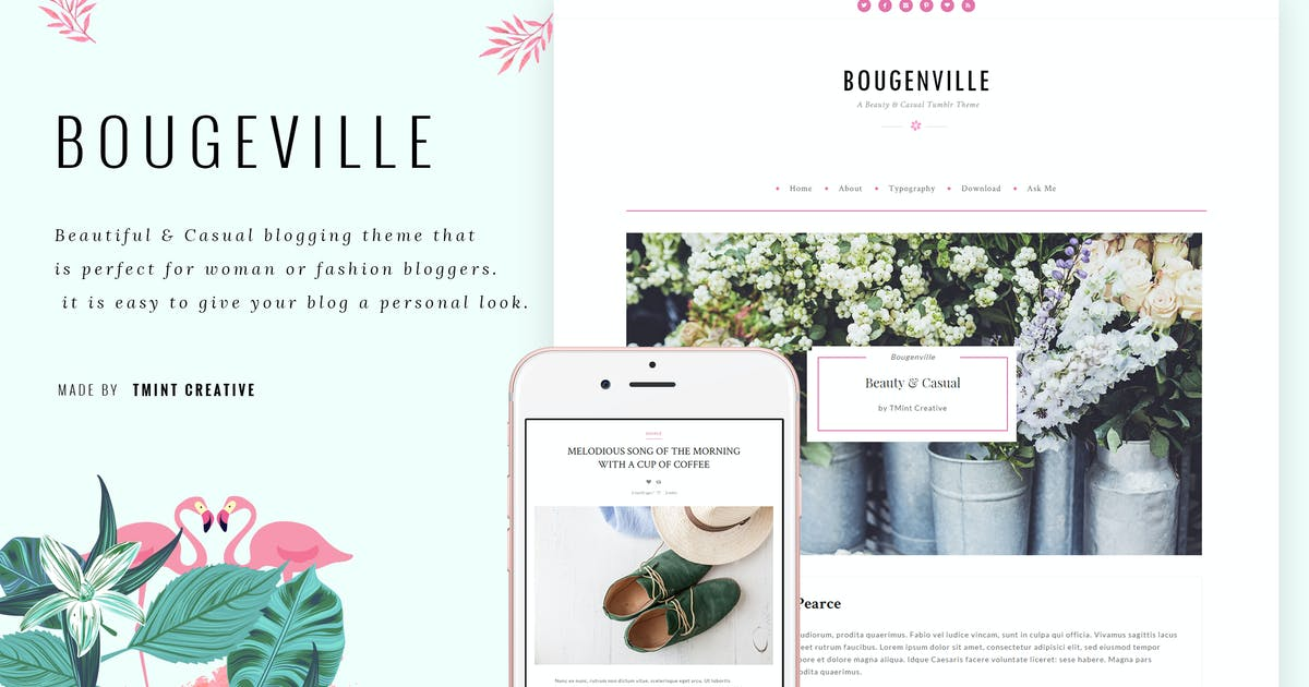 Download Bougenville - Beauty Tumblr Theme by TMint