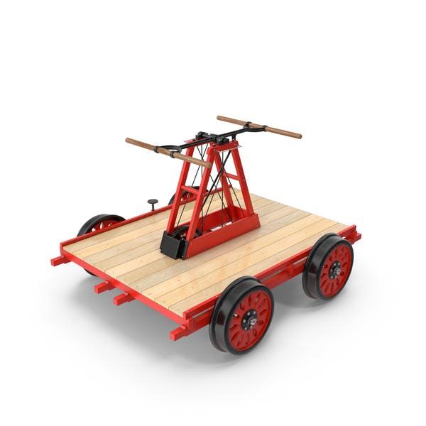 Железнодорожный ручный вагон