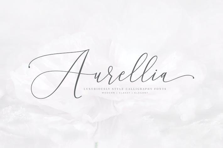 Thumbnail for Aurellia Script Classy Fonts