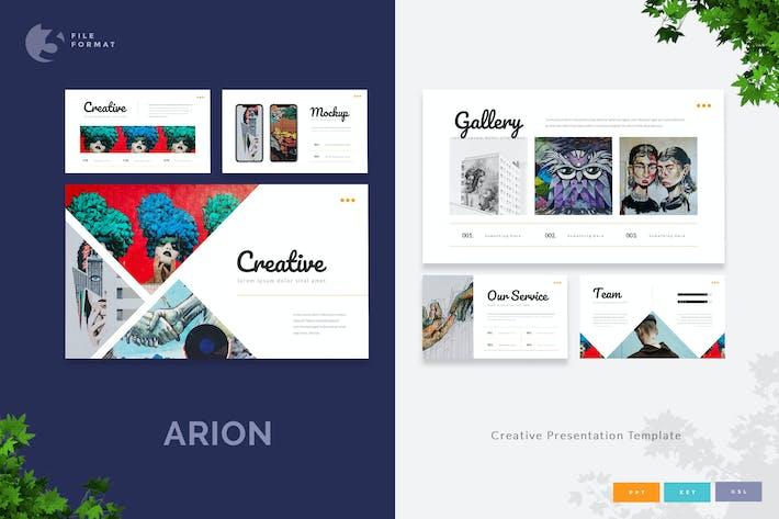 Thumbnail for Arion - Шаблон креативной презентации