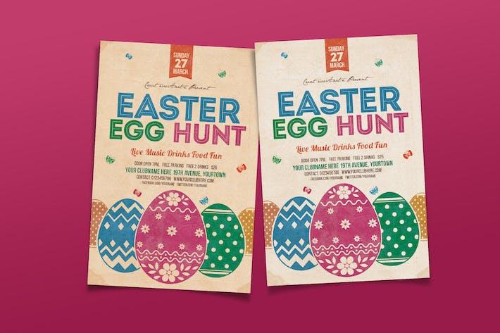 Thumbnail for Vintage Easter Egg Hunt Flyer