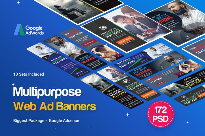 Thumbnail for Multipurpose Banners Ad - 172PSD [ 10 Sets ]