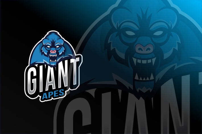 Thumbnail for Giant Apes Esport Logo Template