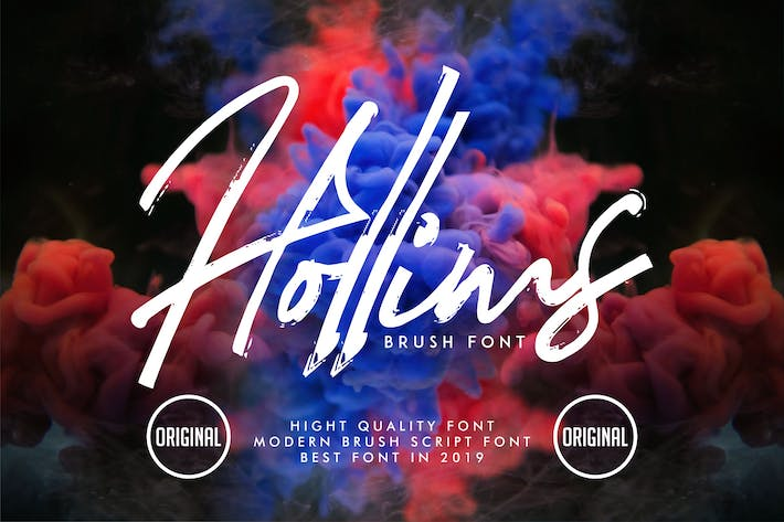 Thumbnail for Hollims | Brush Script Font