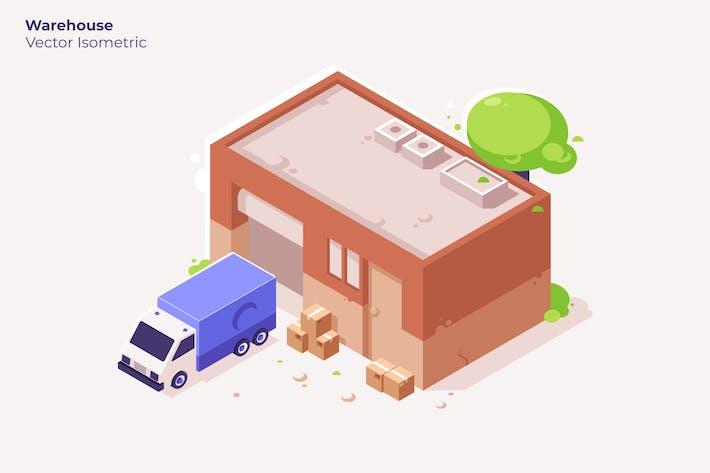 Warehouse - Vector Illustration