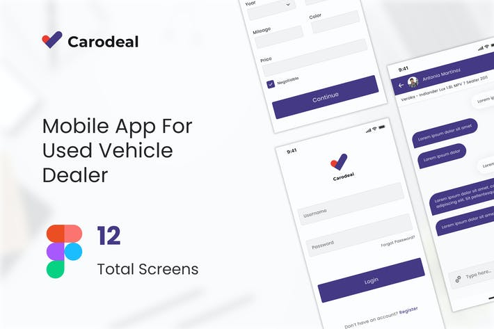 Thumbnail for Carodeal - Used Car Dealer UI kit Figma