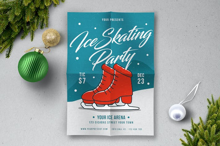 Thumbnail for Ice Skating Party Flyer