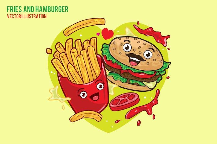 Pommes und Hamburger