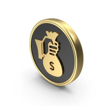 Hand Holding Money Coin Symbol
