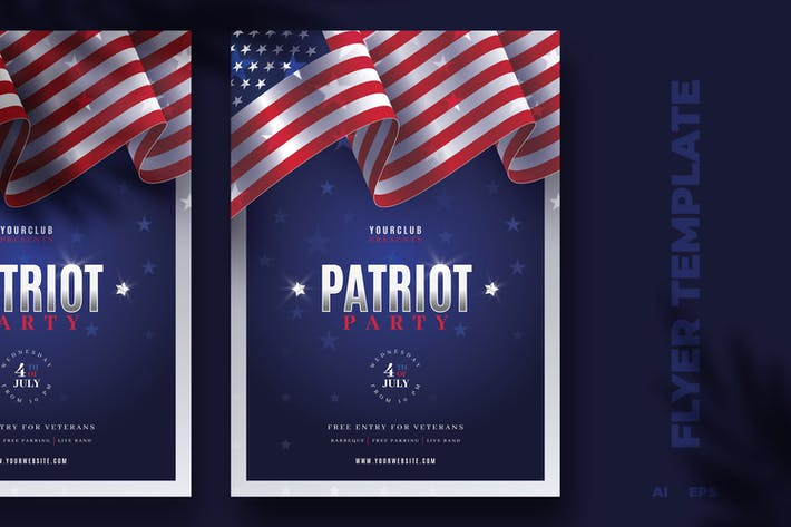 Thumbnail for Patriotic Flyer Template
