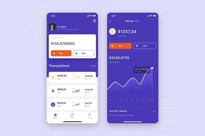 Thumbnail for Bitcoin Exchange mobile UI Concept