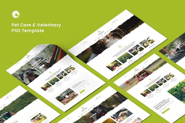 Pet Care, Pet Shop & Veterinary PSD Template