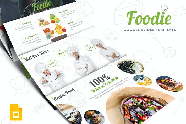 Thumbnail for Foodie-Google Slides Template