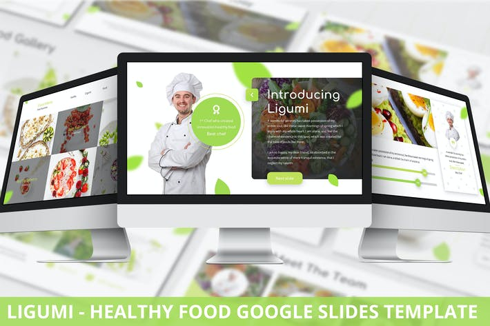 Thumbnail for Ligumi - Healthy Food Google Slides Template