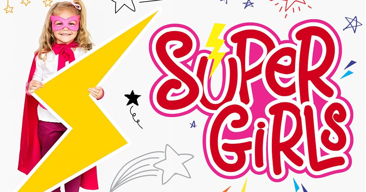 Download Supergirls - Kids Font by CocoTemplates