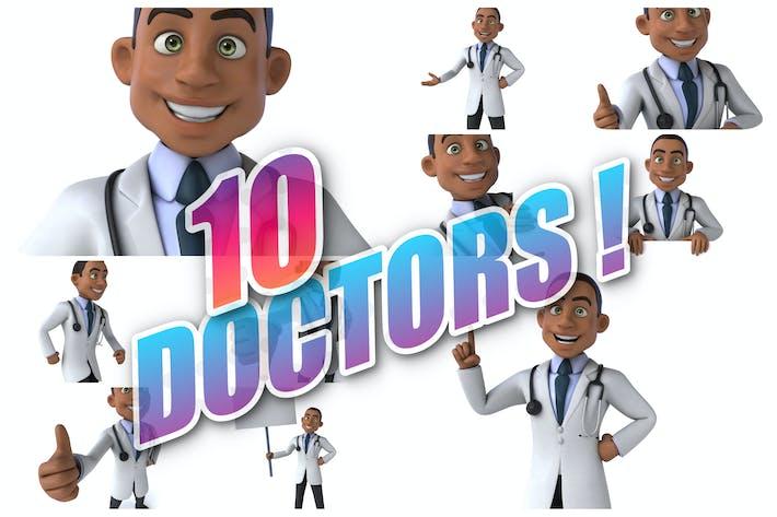 10 Spaß Cartoon Ärzte!