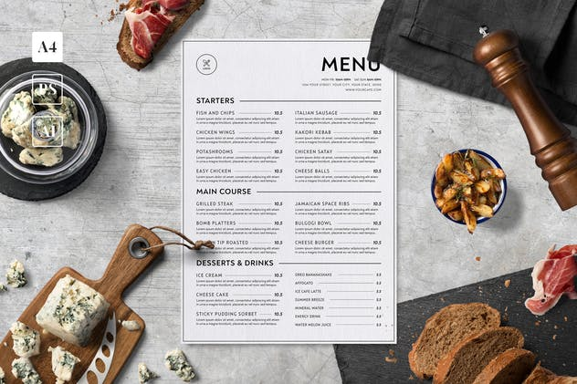 Minimalist Food Menu - product preview 0