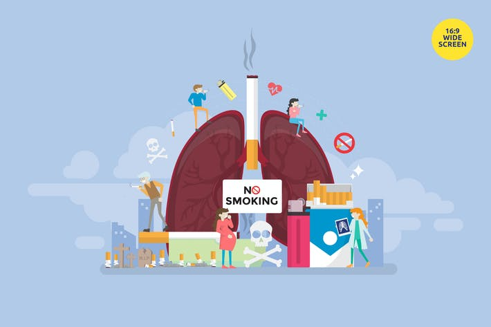 Stop Smoking Vector Illustration Concept
