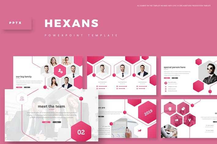 Cover Image For Hexans - Powerpoint Template