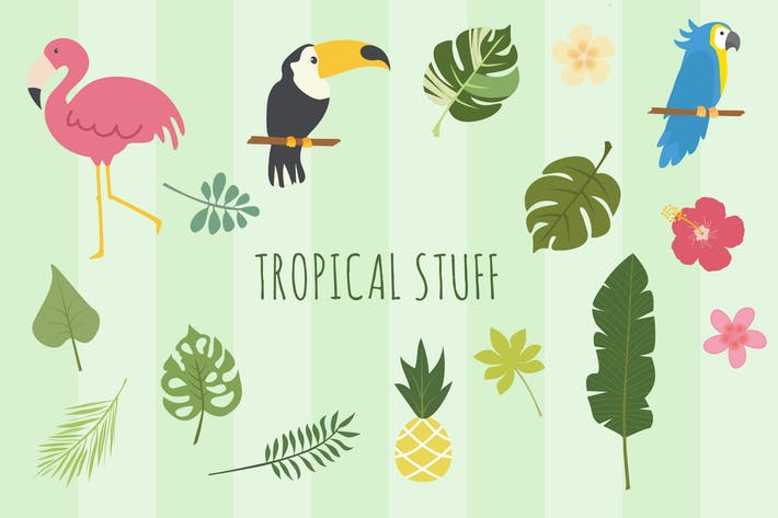 Thumbnail for Tropical Hand Drawn