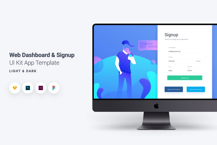 Thumbnail for Web Dashboard & Signup UI Kit App Template 10
