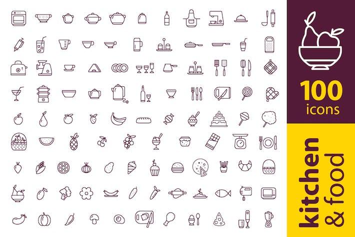 Thumbnail for 100 kitchen icons