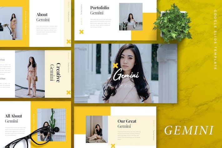 Thumbnail for GEMINI - Fashion Google Slides Template