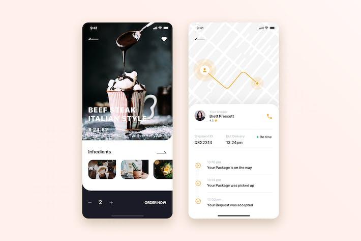 Thumbnail for Food Ordering Mobile App UI Kit Template