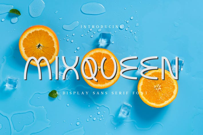 Thumbnail for Mixqueen - A Display Sans Serif Font DR