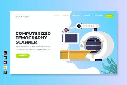 Computerized Tomography Scanner - Landing Page