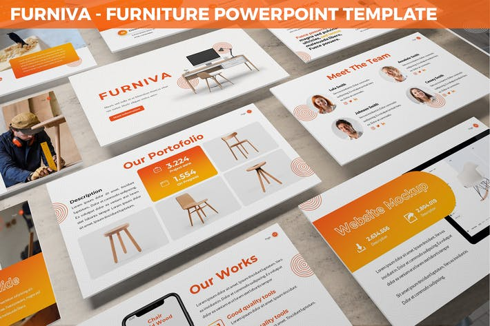 Thumbnail for Furniva - Furniture Powerpoint Template
