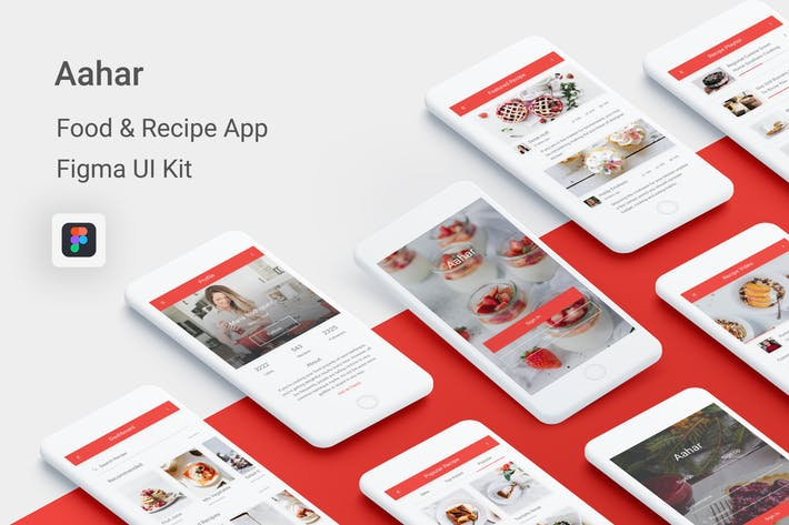 Thumbnail for Aahar - Food & Recipe UI Kit for Figma