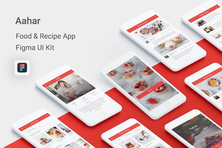 Thumbnail for Aahar - Food & Recipe UI Kit for Figma