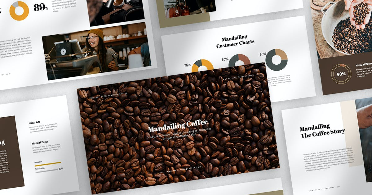 Download Mandailing Coffee Powerpoint Template by eunavia