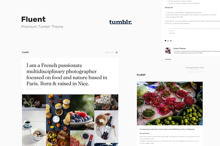 Thumbnail for Fluent | Premium Portfolio Tumblr Theme